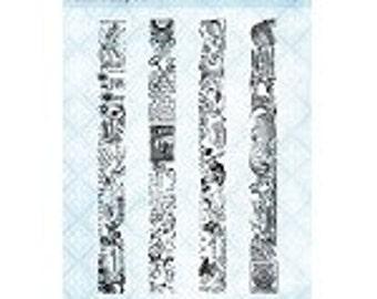 Blue Fern Studios - Clear Stamp - Washi Strips