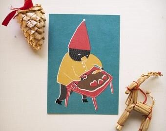 SALE!!! Greeting card: Kystä kyllä