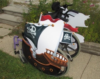 Rolling Buddies Pirate Ship Wheelchair Costume Child's