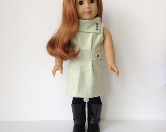American Girl Doll Shawl Collar Wool Dress