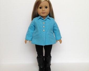 American Girl Doll Blue Chevron Flair Jacket