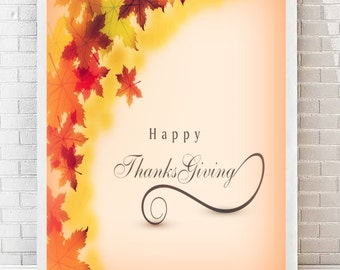 Crafty image for happy thanksgiving signs printable