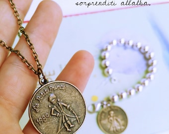 "Long necklace with coin ""Little Prince"""