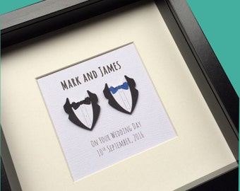 Personalised Gay Wedding Gift:  Gay anniversary Gift, Gay marriage Gift