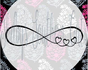 Infinity Looped Heart SVG EPS DXF digital files