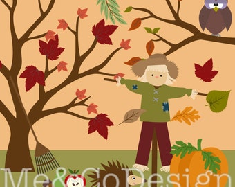 Autumn Clipart, Digital Clipart, Season Clip Art Fall Clipart Instant Download, Personal and Commercial Use Clipart, Digital Clip Art