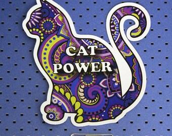 Cat Power Bumper Sticker