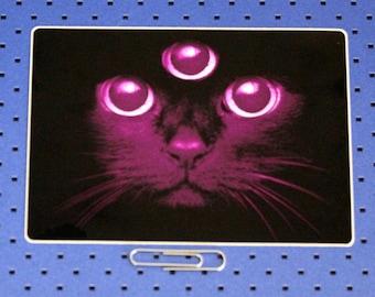 Third Eye Cat Bumper Sticker