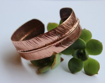 Copper Bracelet - Textured