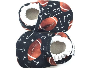 Football baby shoes sports baby booties soft sole shoes boy toddler shoes crib shoes football baby clothes sports baby shoes baby NFL shoes