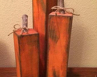 Skinny wood pumpkins- tall