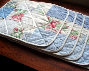 Custom made quilted place mats