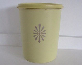 Yellow Tupperware Canister/Storage Jar