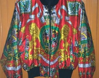 Vintage Silk Royalty Baroque Swag Jacket