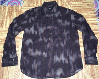 rare mint Hugo Boss shirt button down designer made in Romania L size
