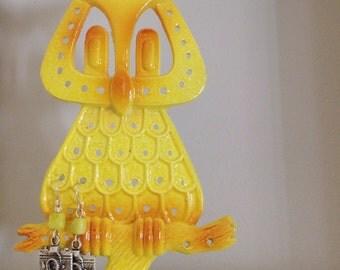 1970s Owl Earring Holder