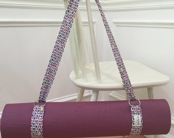 Yoga  Mat Strap - Yoga Mat Carrier - Yoga Mat Sling - Exercize Mat Sling - Exercize Mat Carrier - Handmade Yoga Sling