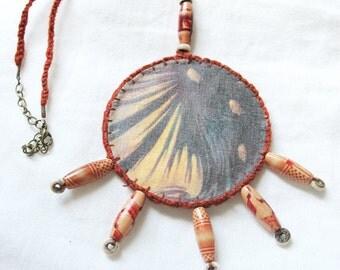 """Amulet Necklace """"Norns"""" unique-Amulet earrings """"Norns"""" unique, mythology, ancient goddess, mystic, magical, Destiny goddesses, archaic"""