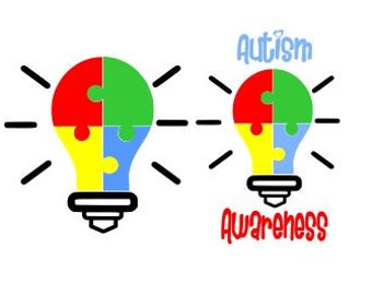 Autism Awareness Light; SVG, Studio 3, DXF, AI, Ps, Eps and Pdf Cutting Files for Electronic Cutting Machines
