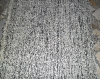 gray overdyed rustic home decor kilim  rug ,102x33inc, turkish rug, handmade wool  rug, oushak rug,grey area rug,vintage rug