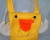 Childs Bag  Duck Bag  Fleece Bag  Childs Gift  Animal Bag  Girls Bag  Birds  Travel Buddy  Handmade gift