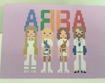 ABBA blank greeting card