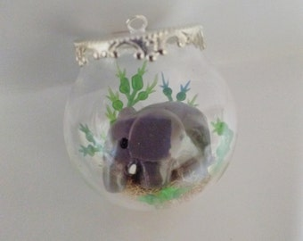Elephant Globe Pendant