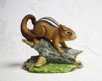 Chipmunk Porcelain Figurine, Andrea by Sadek Chipmunk 5933, Vintage Andrea Sadek Chipmunk, Chipmunk Figurine, Collectible Porcelain Chipmunk