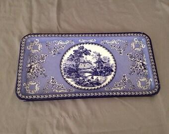 Vintage Daher Tin Serving Platter