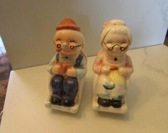 Grandma And Grandpa Salt And Pepper Shakers, Collector