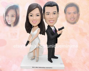 Wedding Gift Personalized Anniversary Gift  Custom Figurine Bobblehead dolls Couple Gifts