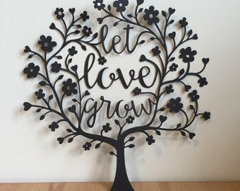 Let Love Grow Original Papercut