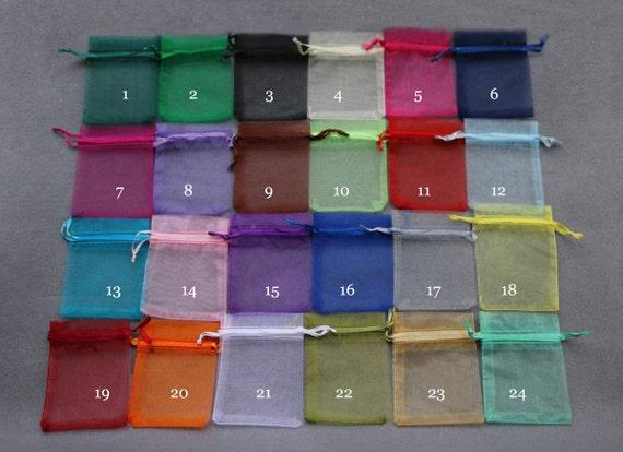 Small Wedding Gift Bags: 100 Organza BagsCandy Drawstring BagsSmall Organza By