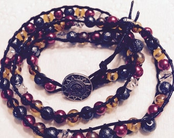 Multicolor wrap bracelet