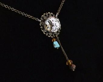 Steampunk Watch Workings Necklace