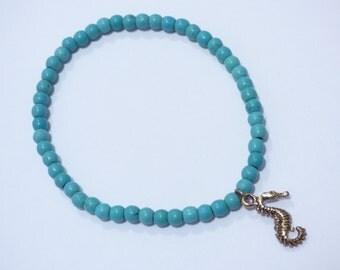 Turquoise Seahorse Bracelet PU054