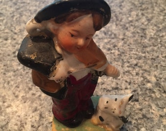 Boy And His Fiddle Figurine