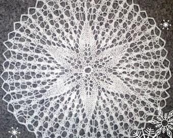 knitting  doily, handmade