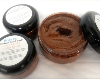 Coffee Scrub/Coo-Coo For Cocoa Scrub/Coffee/Bath Scrub/Cocoa Scrub/Exfoliating Scrub/Facial Scrub/Better Skin/Face Scrub/Chocolate Scrub