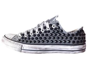 converse ALL STAR black grey fabric