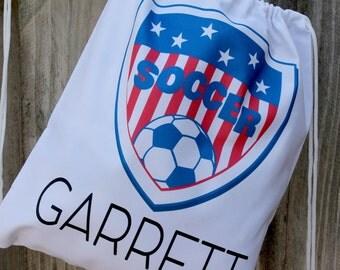 Soccer Drawstring Bag - Personalized