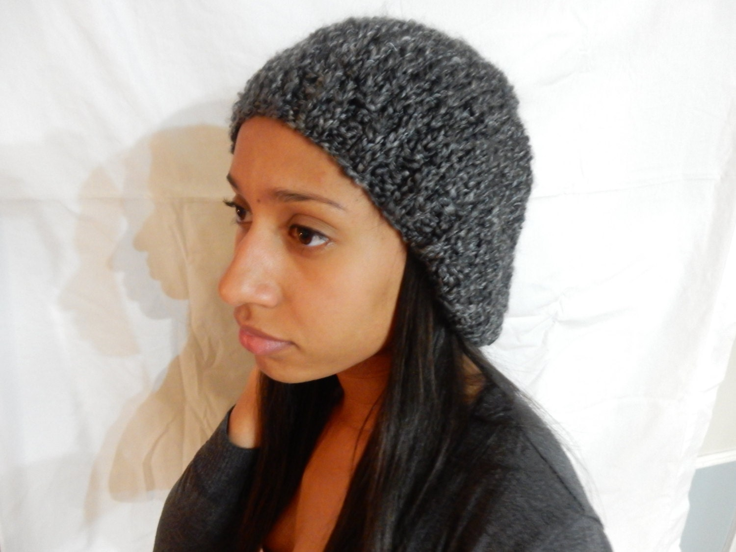 135b48d215ab9 Knitted Slouchy Beanie  GREY  Winter Hat Women Accessories Acrilyc All  Occasions