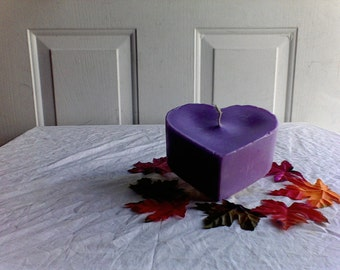Beautiful Heart candle -love Valentine Day -gift Lavender Scented