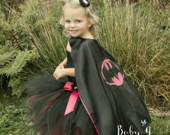 Batgirl Batman tutu costume with superhero cape, costume, birthday tutu dress outfit