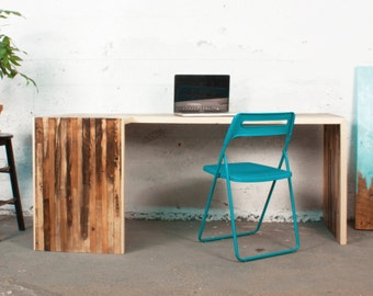 Reclaimed Lath Wood EAST END Desk | Office furniture Creative work space