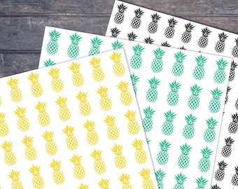 Printable Pineapples gift wrap sheets - Instant download