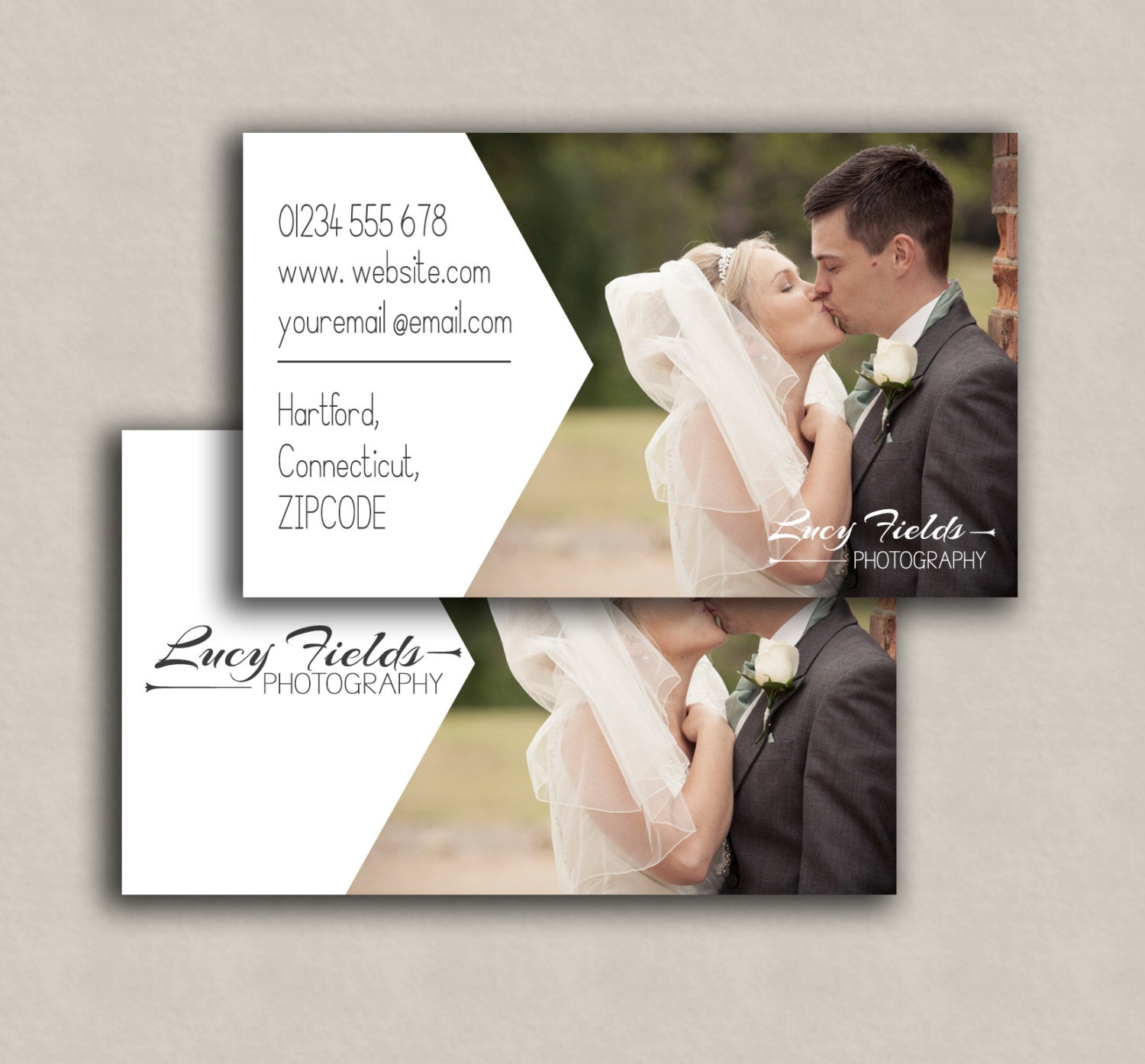 Business Card Template, photoshop marketing card - Double sided ...