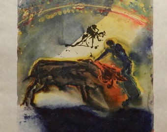 Salvador Dali Tauromachie S/N Etching Certified