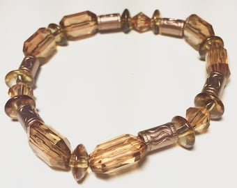 Golden Brown Beaded Bracelet