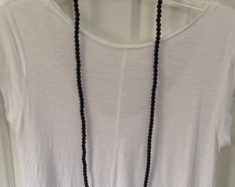 BLACK DOUBLEWRAP Handmade One of a Kind Black Double Wrap Beaded Necklace